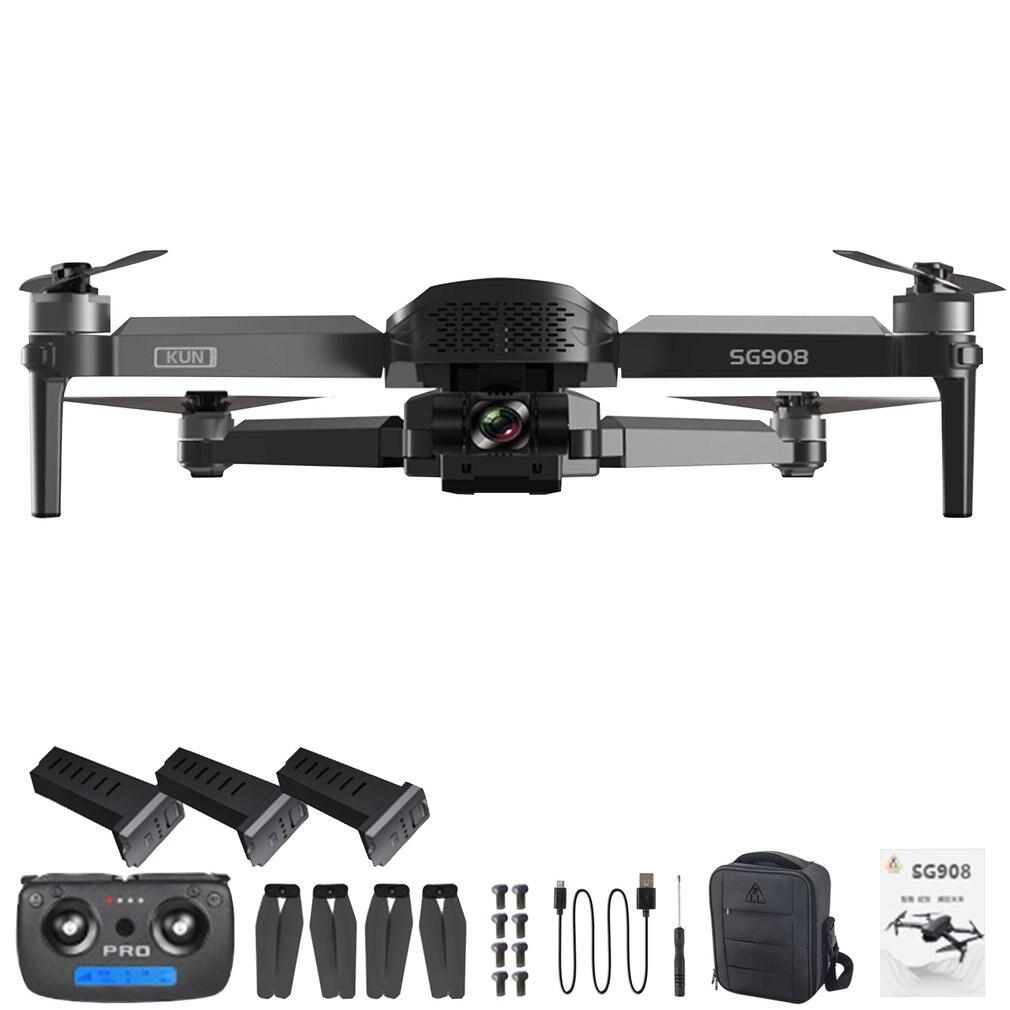 SG908 3 محور Gimbal بدون طيار مع كاميرا 4K عالية الوضوح 5G لتحديد المواقع واي فاي FPV فرش السيارات المهنية أجهزة الاستقبال عن بعد