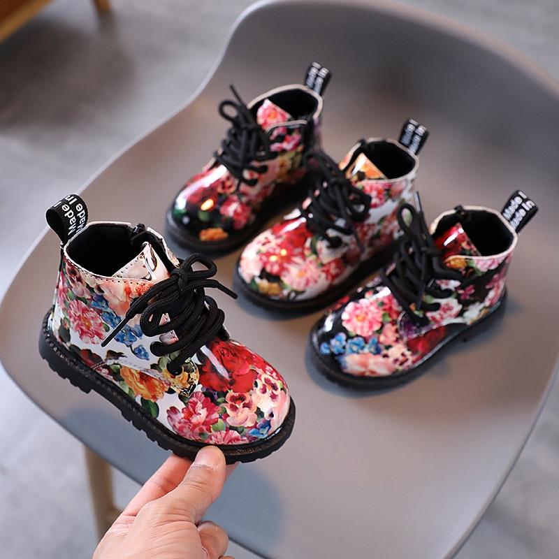 botas infantis novo estilo botas para meninas sapatos de cano alto para meninos e