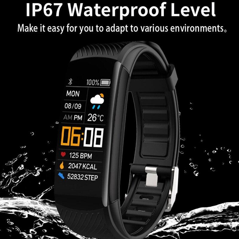 سوار رياضي متصل ، ساعة ذكية ، مراقبة معدل ضربات القلب وضغط الدم ، لهاتف Android/IOS ، مقاوم للماء