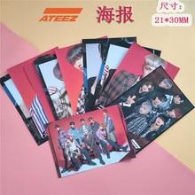 2 unids/set Kpop ATEEZ poster sticker volver nuevo álbum tesoro EP. Mapa para responder póster álbum de fotos ATEEZ SEONG HWA YEO SANG
