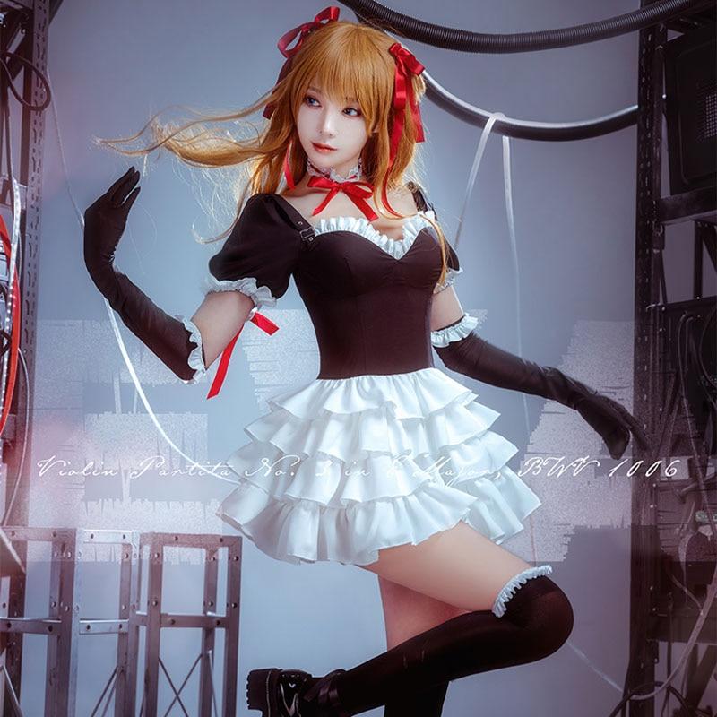 Ainme EVA Cosplay Asuka Langley Soryu Gothic Lolita Dress Uniform Outfit Anime Cosplay Costumes lovelive love live ayase eli flower kimono yukata dress uniform outfit anime cosplay costumes
