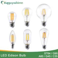 Bombilla Edison E27 ST64 LED E14, ampolla Retro, luces de filamento LED Edison 220V LED Edison E27, luces de vela, lámpara Edison Vintage