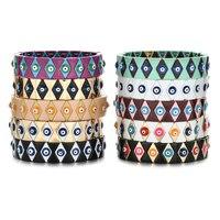 Широкий браслет от сглаза для женщин и мужчин браслеты с турецким глазом, аксессуары в стиле бохо, ювелирные изделия для пар, подарочные бра...