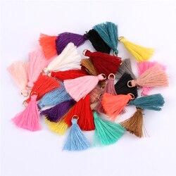 Mini pingente de franja 50 peças, diy, de pendurar anel cordas borla guarnição vestuários cortinas jóias decoração borlas rendas