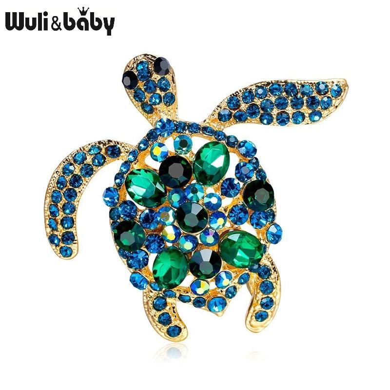 aliexpress.com - Wuli&baby Green Rhinestone Turtle Brooches Women Men Sea Turtle Animal Party Causal Brooch Pins Gifts