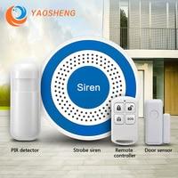 Беспроводная Стробоскопическая сирена 433 МГц, Wi-Fi датчик звука и вспышки, питание от USB для домашней охранной сигнализации
