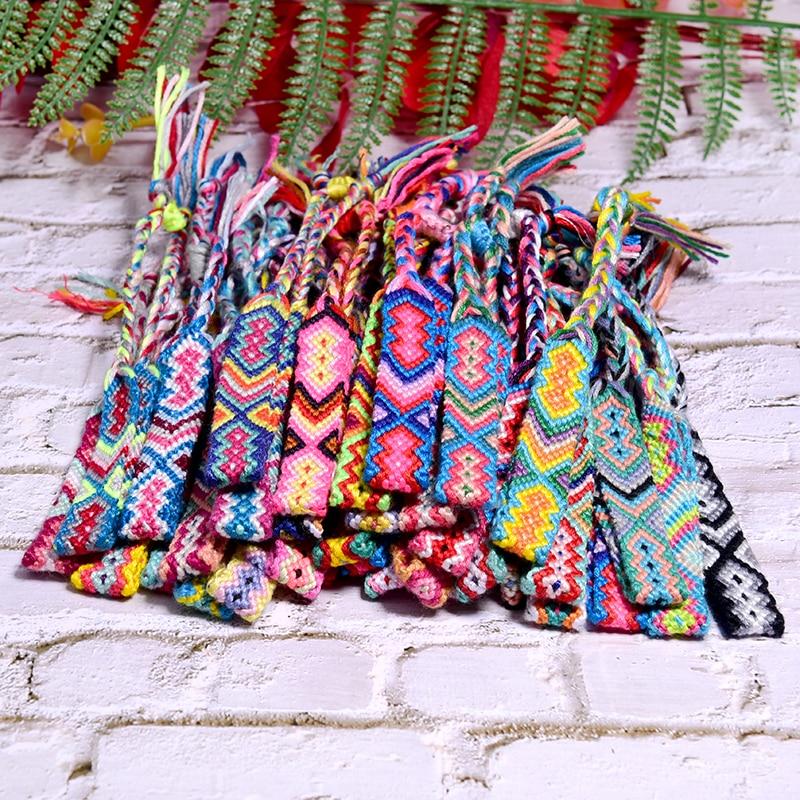 MOON GIRL 20 Pieces Random Color Friendship Bracelet for Women Fashion Handmade Macrame Braided Pulseras Femme Dropshipping