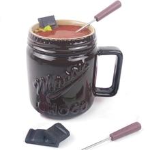Fondue Mug Set Personal Mini Fondue Pots Chocolate and Cheese Fondue Maker Kit Individual Butter Melter Cup Small Queso Warmer