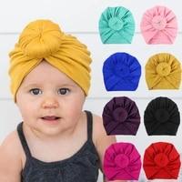 cute donut baby headbands newborn baby turban hats for boy girls beanie hats infant toddler girl bonnet kids hair accessories
