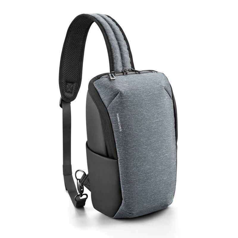 جديد حقيبة صدر للرجال عادية رجل الكتف Daypack ضوء في الهواء الطلق ركوب حزمة الرياضة في الهواء الطلق حقيبة مع جيب الجانب دائم مقاوم للماء
