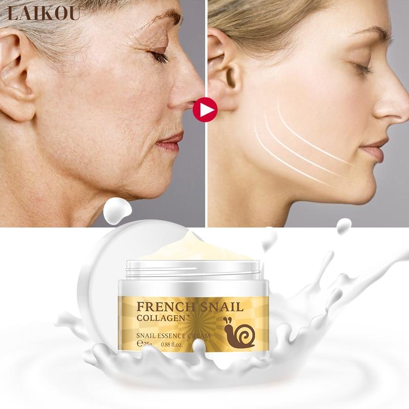 Snail Face Cream Collagen Anti-Wrinkle Anti-Aging Whitening Hyaluronic Acid Moisturizing Lifting Firming Nourishing Skin Care недорого