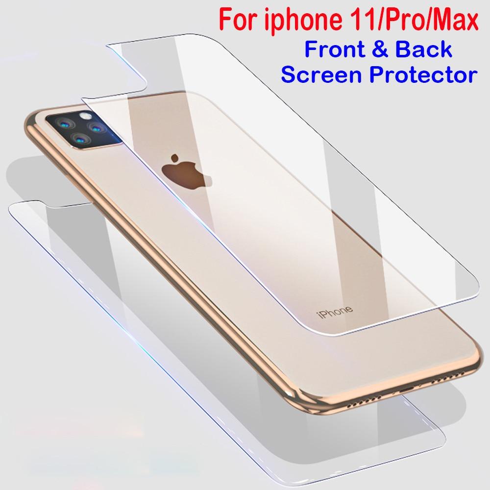 Передняя Задняя Защитная пленка для iphone X XS 11 Pro Max XR 6s 7 8 Plus 5s SE 2020 закаленное стекло на iphone XS 11 Pro Max XR стекло