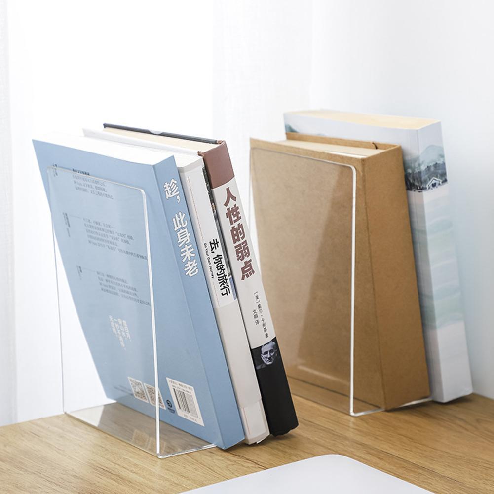 Прозрачная акриловая подставка для книг 1 шт., держатель для книг, подставка для документов, Настольный Органайзер