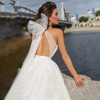 luxury pot lace wedding dress fairy v neck sleeveless bride gown princess 2021 plus size new vestido de mariage