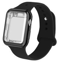 Fall + strap für apple watch band 44mm 40mm iwatch bands 42mm 38mm silikon gürtel correa armband armband für serie 6 SE 5 4 3 2