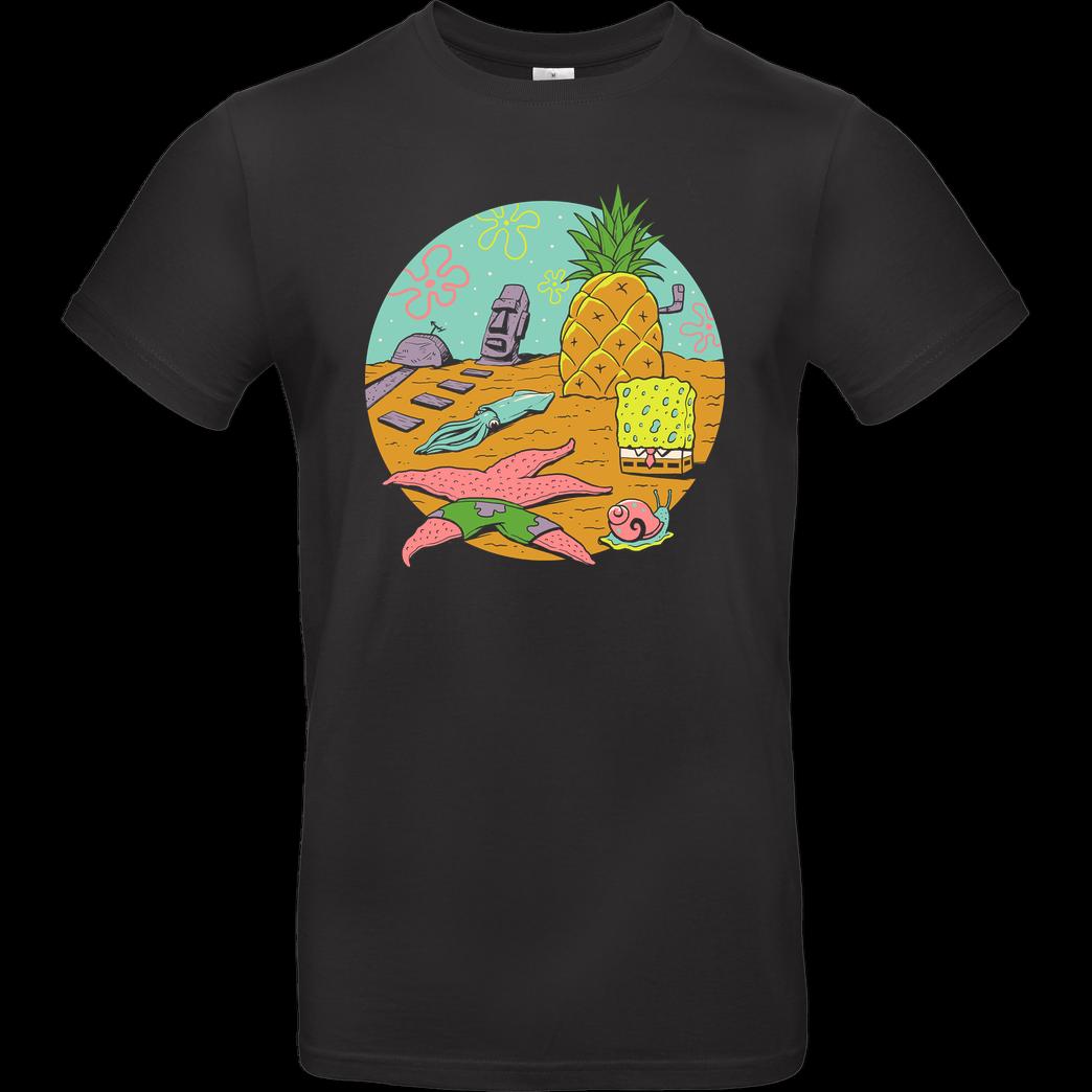 Mar náutico esponja patrick estrela amigos engraçado oceano cartoon preto t camisa s 6xl