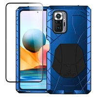 for xiaomi redmi note10 pro case hard aluminum metal heavy duty protection cover for redmi note 10pro tempered glass gift