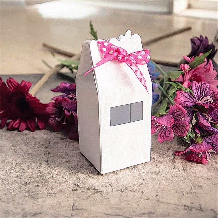 10.8x15.5cm caixa de presente corte de dados de metal artesanato papel de corte/diy gravação de natal e ano novo scrapbooking
