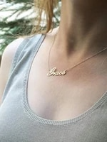 name necklace pendant customized jewelry personalized stainless steel nameplate choker necklaces for women men gifts o chain