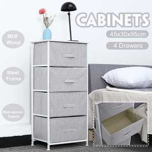 Iron Frame Fabric Drawer Non-woven Wardrobe Multi-layer Bedside Tables For Bedroom Living Room Storage Cabinet Rack