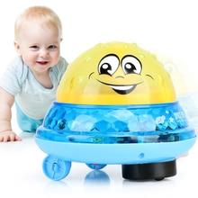 Brinquedos de banho spray água luz girar com chuveiro piscina crianças brinquedos para crianças criança natação banheiro led luz brinquedos bain bebe