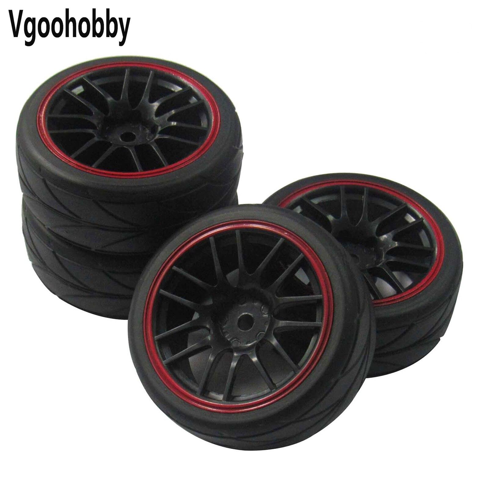 12-миллиметровые шестигранные колесные диски и резиновые шины для гоночного дрифтерного автомобиля RC 1/10 (комплект из 4 шт.)