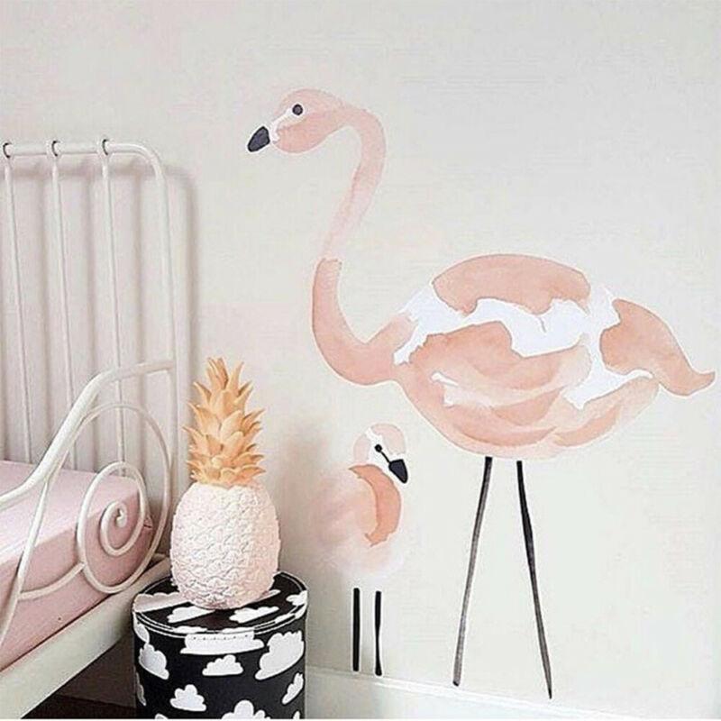 90x60 cm PVC pared pegatina flamenco DIY pegatinas de pared decoración del hogar