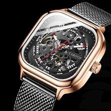 Top Quality Brand CAROTIF Metal Mesh Belt Men Watch Montre Luxury Automatic Mechanical Watches Men R