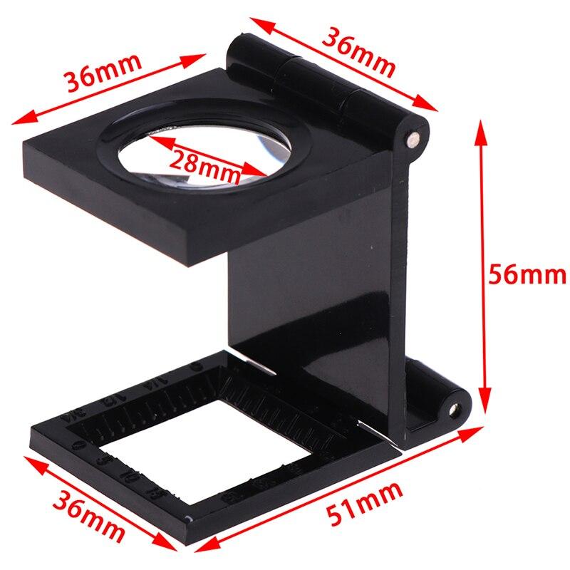 Soporte para lupa plegable para microscopio, lupa con escala para textiles, herramienta para lupa plegable de 10X 28mm