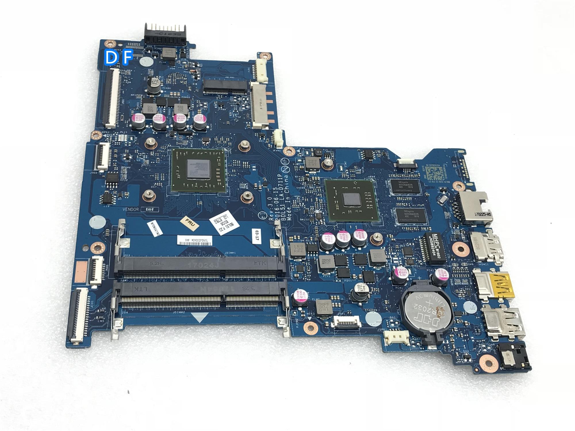 BDL51 LA-D711P R5M1-30 2G para HP 15-BA 15-BA021CY 255 G5 Motherboard Laptop 854967-60 Testado working1 854967-001
