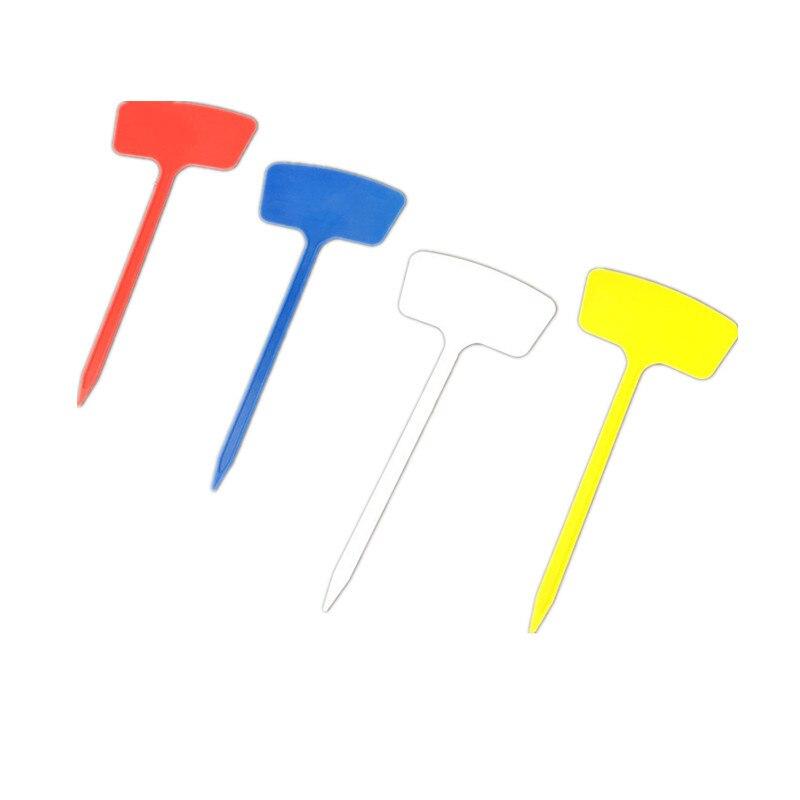 10 шт 27*11*6 см красный, Белый Синий Желтый маркер для растений Пластик цветник этикетки посадки кустарник знак Классификация инструменты