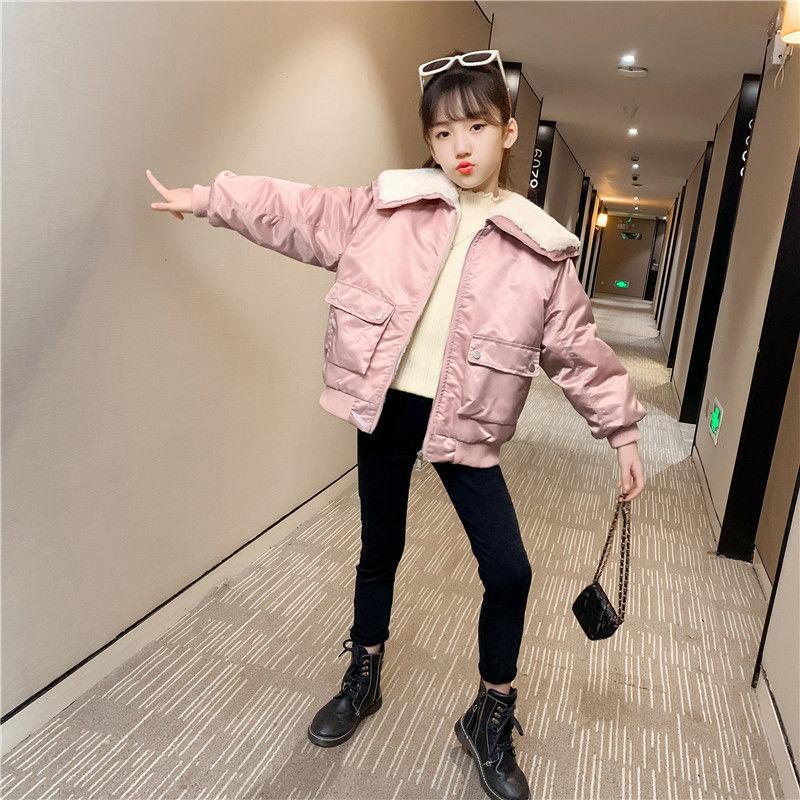New 2021 Winter Parkas Kids Jackets Fleece Girls Soft Warm Thicken Velvet Children's Coat Baby Outerwear Fashion Jacket D166 enlarge