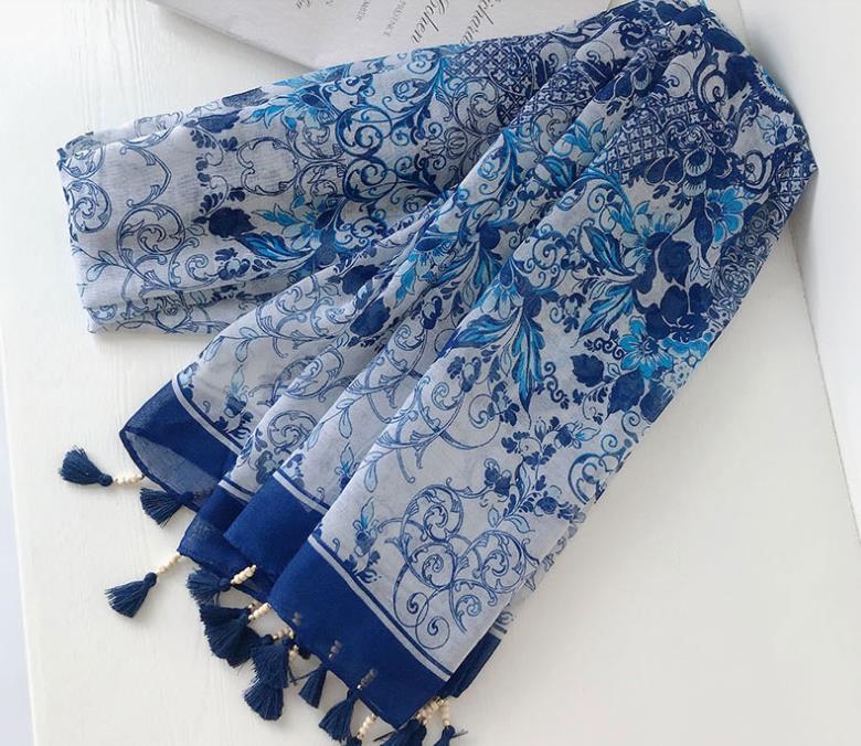 2018 Hot البيع Tassel زهرة شرابة وشاح شالات النساء الأزهار الأوشحة التفاف الشاطئ Muffler الحجاب بالجملة 10 قطعة/الوحدة شحن مجاني