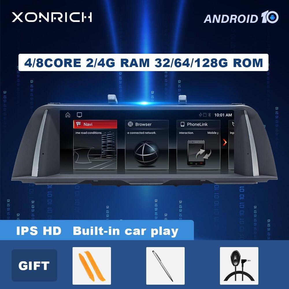 IPS 4GB 128GB أندرويد 10 راديو السيارة الوسائط المتعددة لسيارات BMW 5 سلسلة F10 F11 2010-2016 CIC NBT سيارة لتحديد المواقع والملاحة f10 ستيريو رئيس وحدة