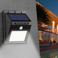 LED Solar Light LED Wall Light Sensor Solar Power PIR Motion Outdoor Waterproof Garden Emergency Solar Lamp