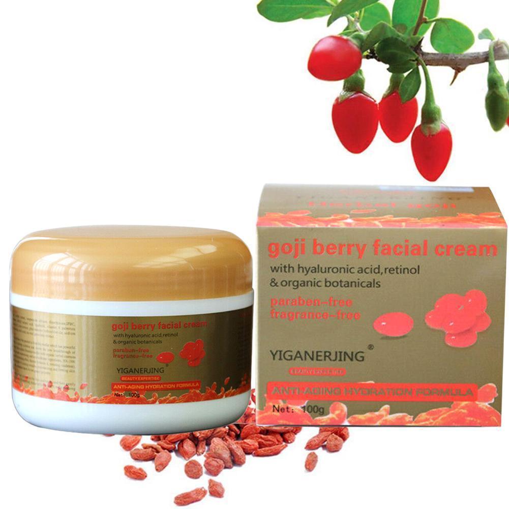 100ml crema de Goji Wolfberry noche Crema para cara Anti-arrugas apriete cara jóvenes bayas crema de Goji O6G8