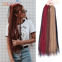 Alileader Products Box Braid Hair Extensions 12 16 20 24 Inch Synthetic Crochet Hair Braiding Twist Braids 22Strands/Pack