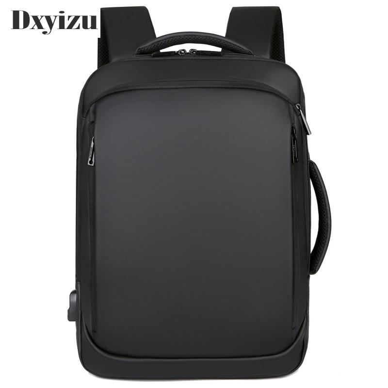Antirrobo de gran capacidad 15,6 pulgadas mochilas universitarias para hombres Mochila negra para mujeres Mochila para ordenador portátil