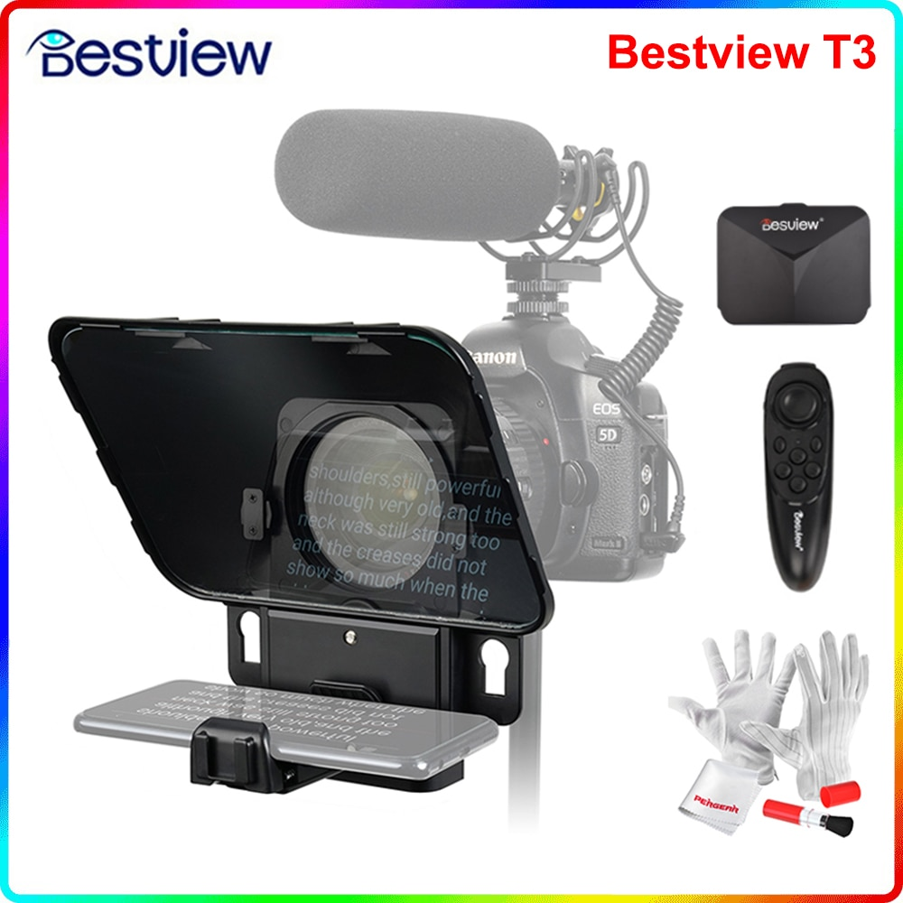 Destview T3 ترقية الهاتف الذكي/قرص/DSLR كاميرا المطالبة الهاتفية مع محول العدسة التحكم عن بعد حلقة لخطاب المرحلة