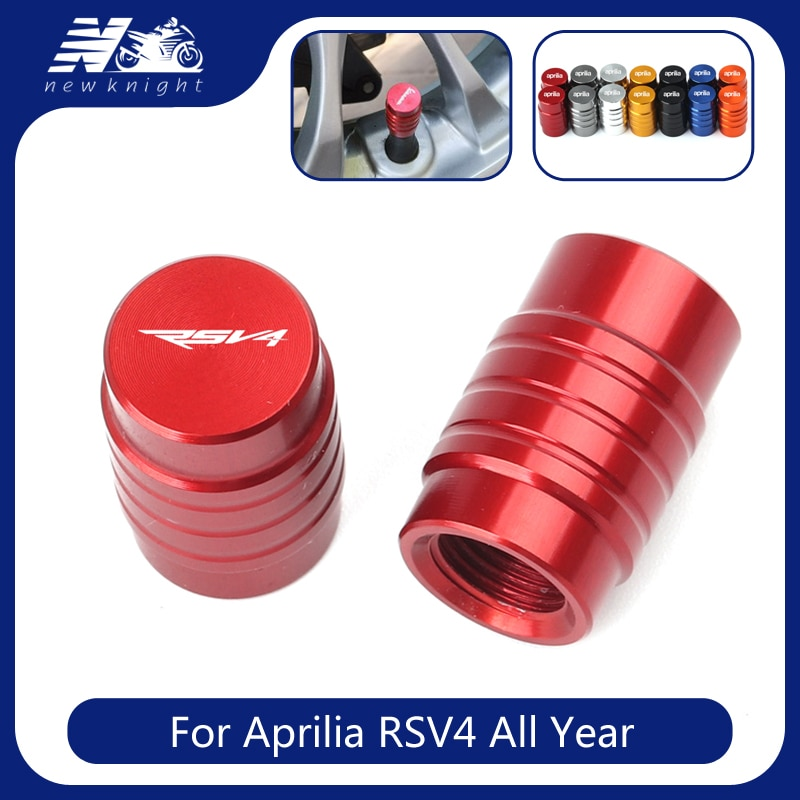 With Logo For Aprilia RSV4 rsv 4 All Year 2 pcs Motorcycle Accessories Aluminum Tire Valve Caps Wheel Stem Air Airtight Covers
