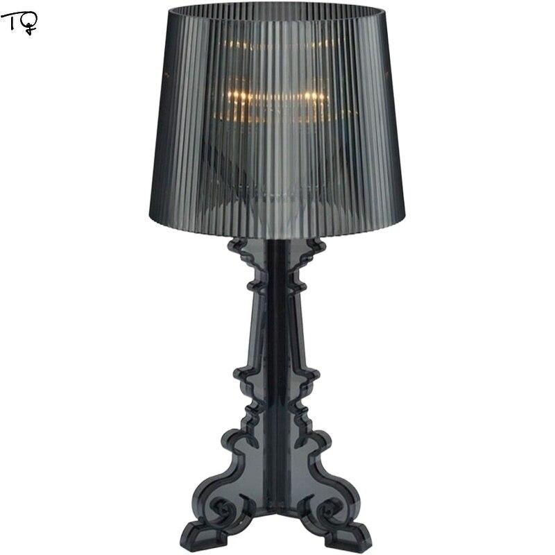 Italia DISEÑO DE Kartell lámpara Bourgie acrílico E14 lámpara de escritorio LED arte decoración interior iluminación de estudio habitación dormitorio, estudio,
