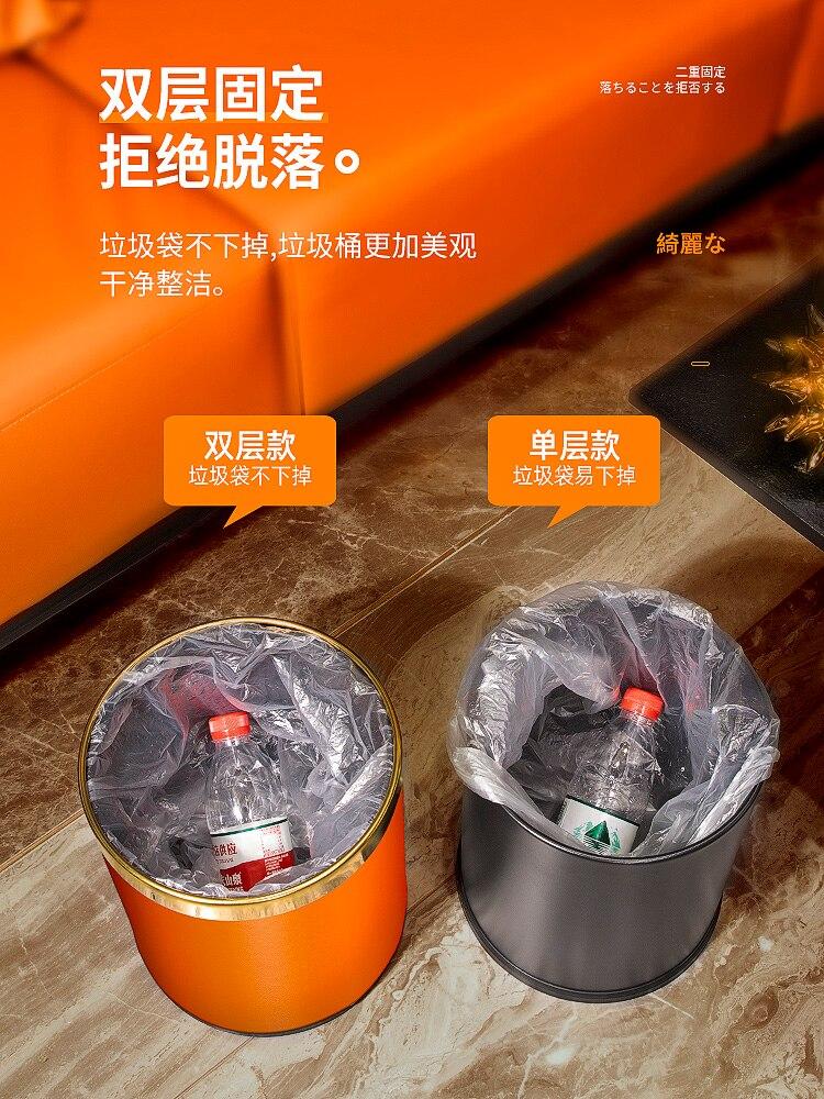 Without Cover Waste Bin Northern Europe Fashion Creative Trash Can Bedroom Bathroom Cubo Basura Cocina Garbage Bin DI50LJT enlarge