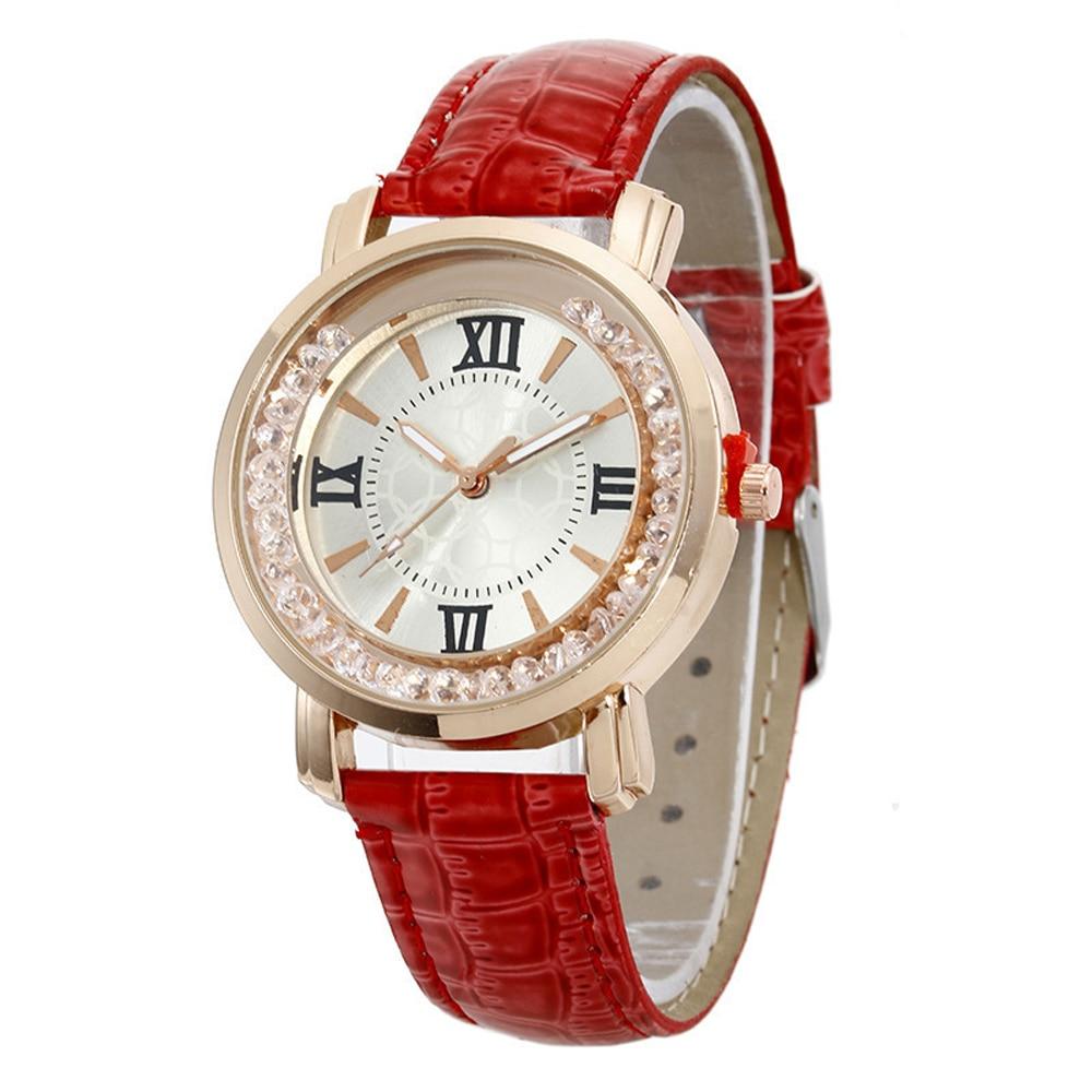 2021 Women Watch Fashion Luxury Leisure Set Auger Leather Stainless Steel Quartz Watches Wristwatch