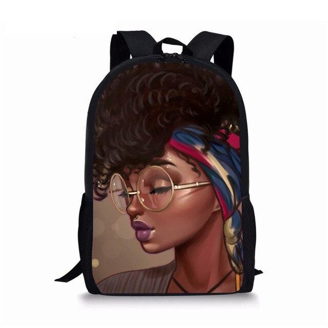 Mochila negra Afro para libros de magia, mochila escolar africana para niñas, niños de primaria, mochilas multifunción con estilo americano