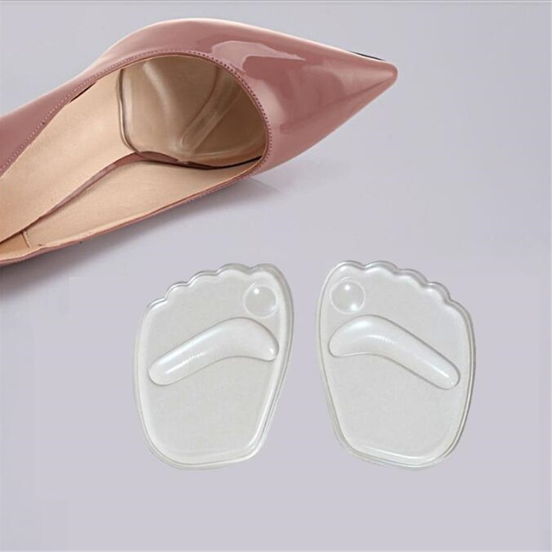 Silicone Gel Forefoot Insole Shoes Pads High Heel Soft Orthopedic Insole Anti-Slip Foot Protection F