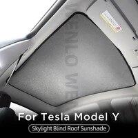 for tesla model y 2021 car top glass sunshade skylight roof window windshield blind sunroof sun shade magnet mesh curtains net
