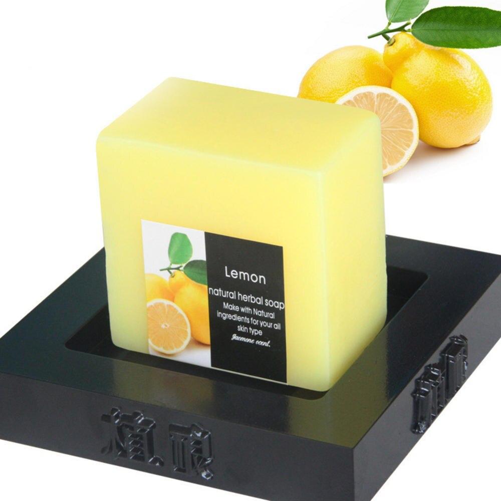100g Handgemachte Zitrone Seife Reiniger Entfernung Poren Akne Behandlung Feuchtigkeitsspendende Bleaching Körper Dusche Werkzeuge Körperpflege Seife    -