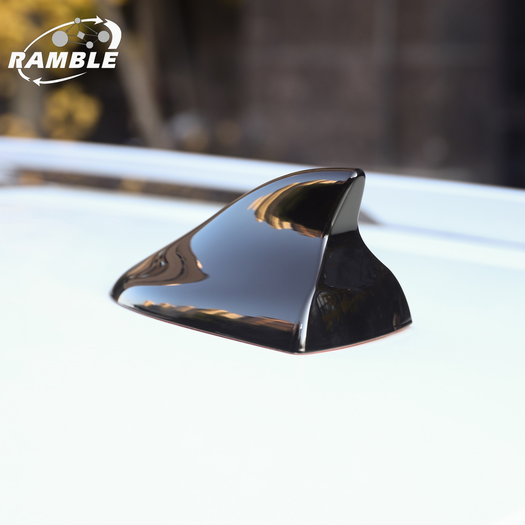 Ramble Shark Fin Antenna Cover Radio Car Aerial Auto Roof Antena ABS Roof Radio Antenna Black White