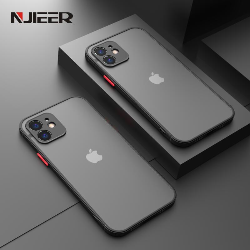 Shockproof Silicone Bumper Phone Case iPhone 12 11 Pro Max Mini X XR XS MAX 8 7 6 6S Plus SE 2020 Lu