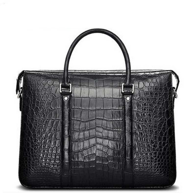 Cestbeau new crocodile leather men's bagsl crocodile leather single shoulder women bag men handbag male bag male briefcase